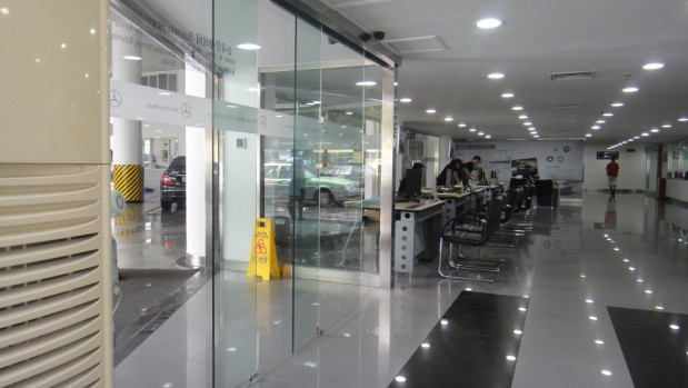 Benz showroom