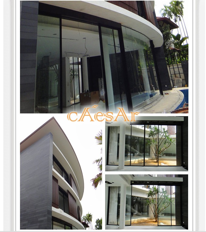 Malaysia luxury villa Caesar CSD automatic curved door project